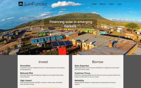 Screenshot of Contact Page sunfunder.com - SunFunder | Financing solar energy in emerging markets - captured July 3, 2015