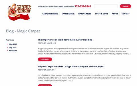 Screenshot of Blog magiccarpetinc.com - Blog - Magic Carpet - captured May 17, 2017