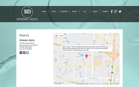 Screenshot of Maps & Directions Page spinnindiscs.com - Map   Spinnin Discs Wedding DJs Schaumburg, Illinois - captured Dec. 21, 2016