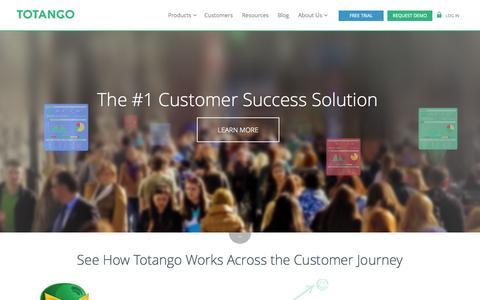 Screenshot of Home Page totango.com - Customer Success for Online Businesses | Totango - captured Sept. 17, 2014