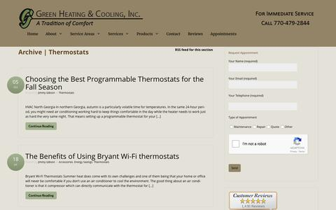 Thermostats - Green Heating and Cooling