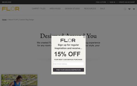Screenshot of About Page flor.com - About FLOR   Custom Rug Design - captured June 6, 2017