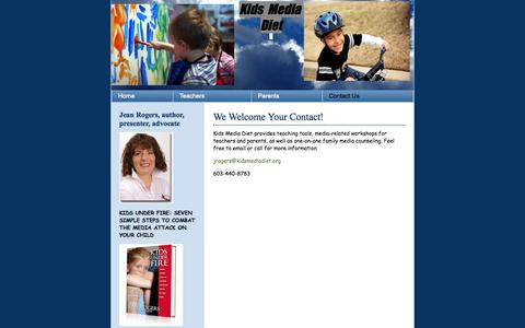 Screenshot of Contact Page kidsmediadiet.org - Crayon | Imagine your next design - captured Sept. 30, 2014