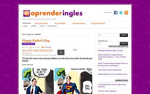 Screenshot of Press Page aprenderingles.com.br - Arquivo para noticias « AprenderIngles AprenderIngles - captured Oct. 4, 2014