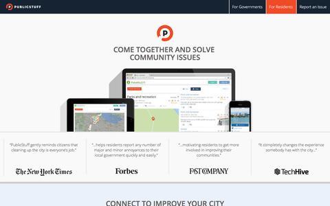 Screenshot of publicstuff.com - PublicStuff - captured March 19, 2016