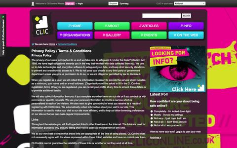 Screenshot of Terms Page cliconline.co.uk - CLIConline - captured Oct. 1, 2014