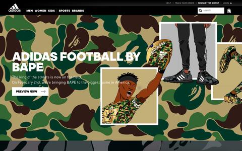 Screenshot of Signup Page adidas.com - adidas Football x BAPE collection - captured Jan. 28, 2019