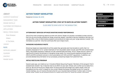 Screenshot of Blog actiontarget.com - Blog | Action Target - captured Nov. 3, 2019