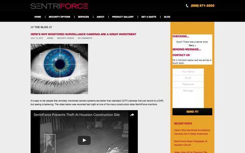Screenshot of Blog sentriforce.com - SentriForce Blog - Video Surveillance News and Tips - captured Aug. 12, 2016