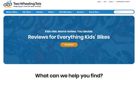 Screenshot of Home Page twowheelingtots.com - Two Wheeling Tots - Home Page - captured Sept. 19, 2018