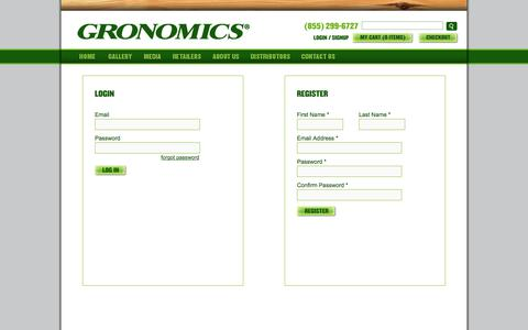 Screenshot of Login Page gronomics.com - Gronomics - captured Sept. 19, 2014
