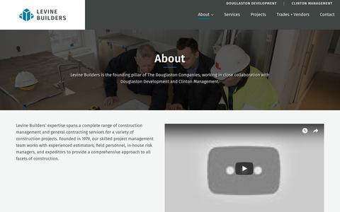 Screenshot of About Page levinebuilders.com - About Us | Construction Management in New York - captured July 19, 2018