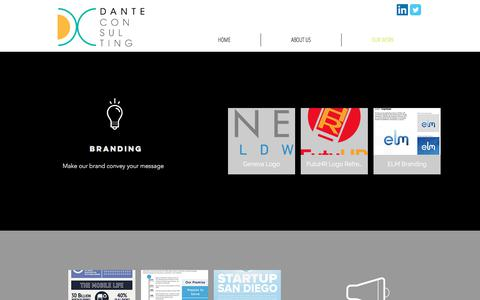 Screenshot of Services Page danteconsultinggroup.com - Our Work | Dante Consulting - captured June 4, 2017
