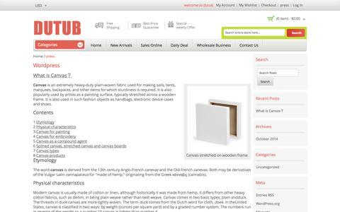 Screenshot of Press Page dutub.com - wordpress - captured Nov. 5, 2014