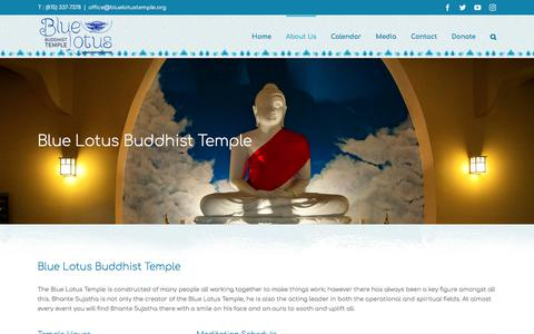 Screenshot of About Page bluelotustemple.org - About Us | Blue Lotus Buddhist Temple | Blue Lotus Buddhist Temple - captured April 25, 2018