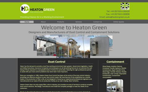 Screenshot of Home Page heatongreen.co.uk - Heaton Green, Dust Control and Containment - captured Oct. 2, 2014