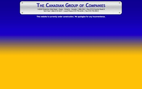 Screenshot of Home Page canadiangroup.com - Canadian Group of companies - captured Oct. 1, 2014