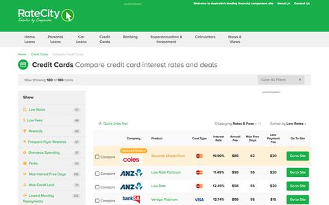 Low Interest Rates & Low Fee Credit Cards | RateCity