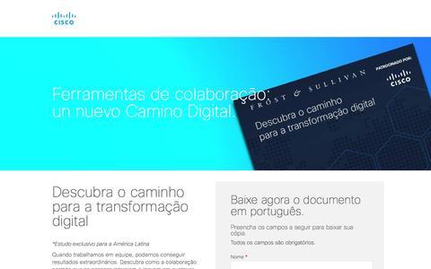 Screenshot of Landing Page cisco.com - Descubra el camino hacia la Transformación Digital - captured Oct. 13, 2016