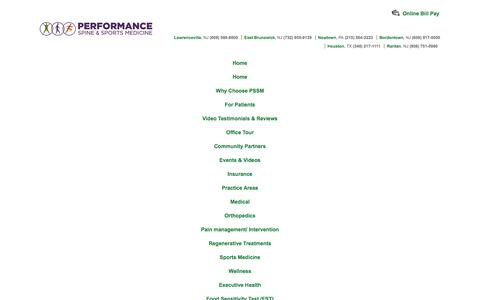 Screenshot of Terms Page pssmwellness.com - Terms of Service - Performance Spine and Sports– Performance Spine and Sports - captured Dec. 5, 2019