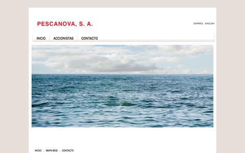 Screenshot of Home Page pescanova.com - Pescanova - captured July 17, 2018