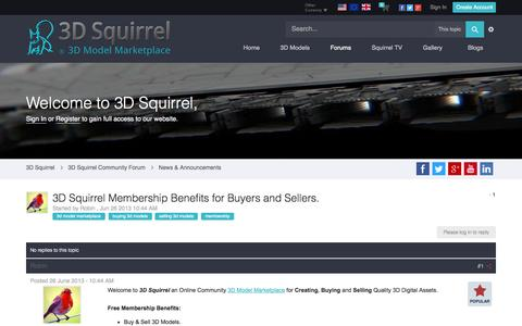 Screenshot of About Page 3dsquirrel.co.uk - 3D Squirrel Membership Benefits for Buyers and Sellers. - News & Announcements - 3D Squirrel - captured Oct. 27, 2014