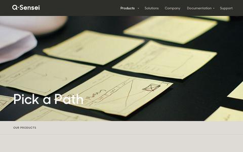 Screenshot of Products Page qsensei.com - Products — Q-Sensei - captured June 17, 2015