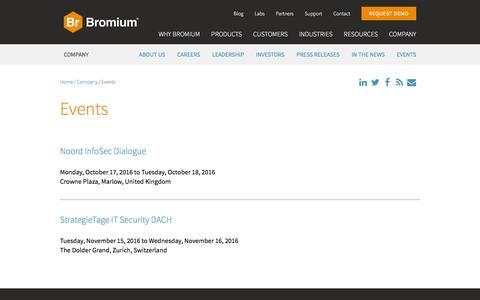 Bromium Events