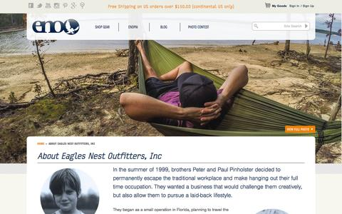 Screenshot of About Page eaglesnestoutfittersinc.com - About Eagles Nest Outfitters, Inc | Eagles Nest Outfitters Inc - captured July 4, 2015
