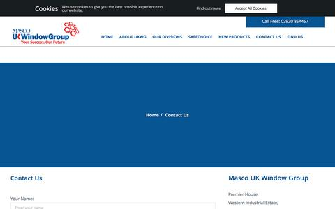 Screenshot of Contact Page ukwg.co.uk - Contact Us - Masco UK Window Group - captured Sept. 24, 2018