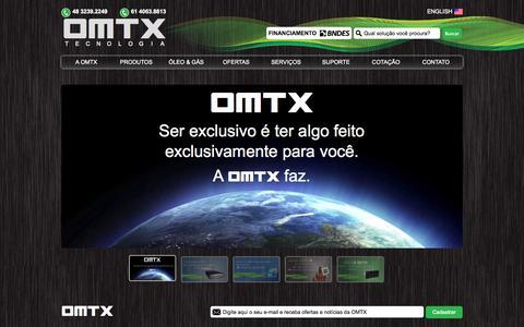 Screenshot of Home Page omtx.com.br - OMTX do Brasil | Tecnologia, Supercomputadores, Revenda, Servidores, Servers, Storages, Armazenamento, Time Machine, ATMOS, Zeus, Switch e Roteadores - captured Sept. 26, 2014
