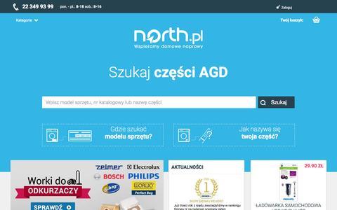 Screenshot of Home Page north.pl - Części AGD i RTV - Części zamienne i do naprawy urządzeń - North.pl - captured Aug. 5, 2015