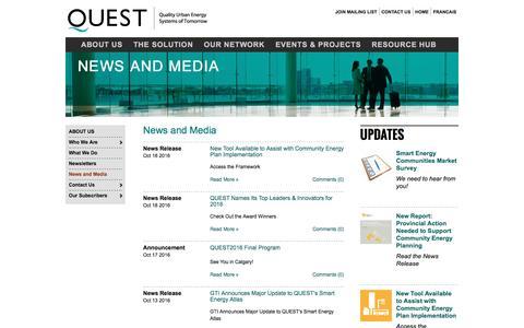 Screenshot of Blog questcanada.org - QUEST | Blog - captured Oct. 21, 2016