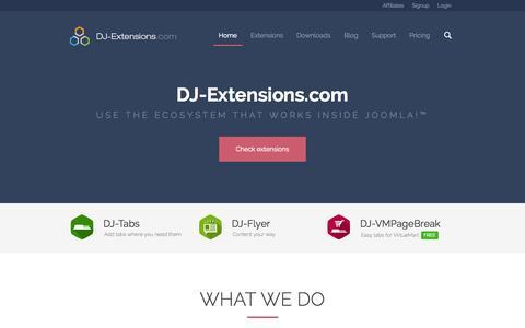 Screenshot of Home Page dj-extensions.com - Best Joomla Extensions ● Dj Extensions ● Joomla extension ● DJ-Extensions.com - captured Oct. 10, 2014