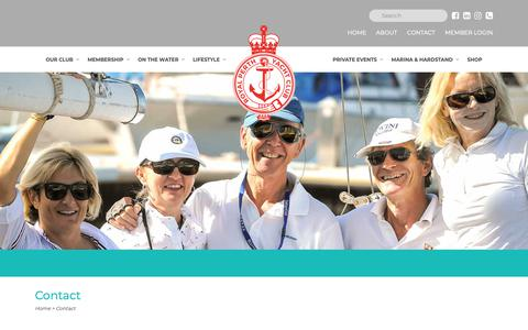 Screenshot of Contact Page rpyc.com.au - Contact | Royal Perth Yacht Club - captured Oct. 18, 2018