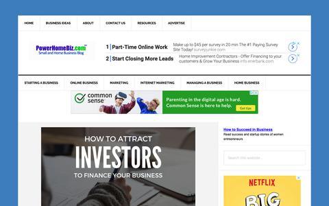 Screenshot of Blog powerhomebiz.com - PowerHomeBiz Small and Home Business Blog - captured Sept. 27, 2018