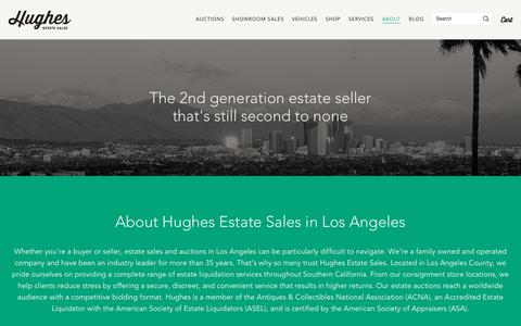 Screenshot of About Page hughesestatesales.com - Estate Sales in Los Angeles | Consignment Store | About Hughes - captured May 22, 2017