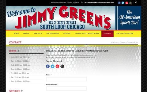 Screenshot of Contact Page jimmygreens.com - Jimmy Green  Contact » Jimmy Green - captured Oct. 6, 2014