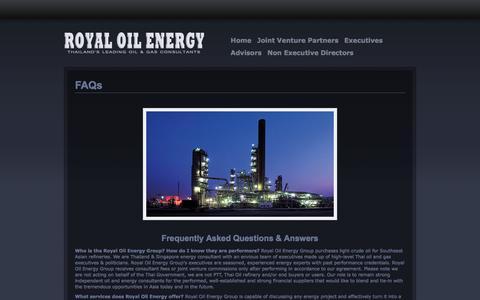 Screenshot of FAQ Page royaloilenergy.com - FAQs | ROYAL OIL ENERGY - captured Sept. 30, 2014