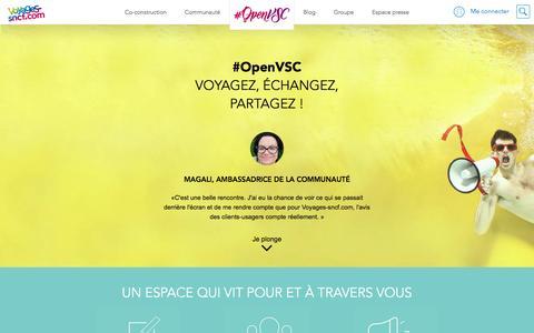 Screenshot of voyages-sncf.com - #OpenVSC | #OpenVSC - captured March 19, 2017
