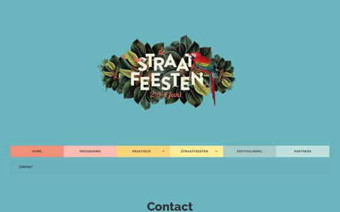 Screenshot of Contact Page straatfeesten.com - Contact - Straatfeesten - captured Jan. 25, 2018