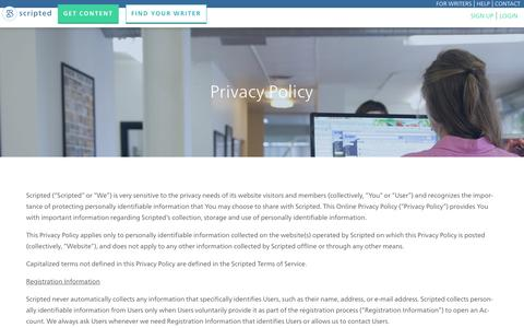 Privacy Policy - Scripted