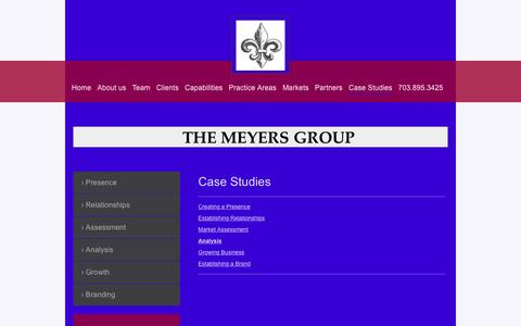 Screenshot of Case Studies Page gmeyers.com - The Meyers Group - Case Studies - captured Feb. 25, 2016