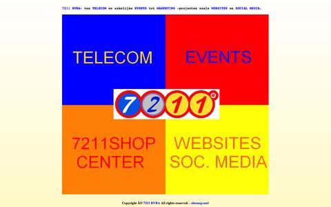 Screenshot of Home Page 7211.be - 7211 BVBA - telecom - events - marketing - websites - social media - captured Oct. 7, 2014