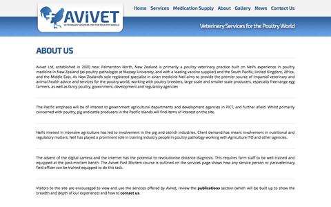 Screenshot of About Page avivet.co.nz - About | Avivet Ltd | Poultry, Fowl, Avian Specialist - captured Nov. 2, 2014