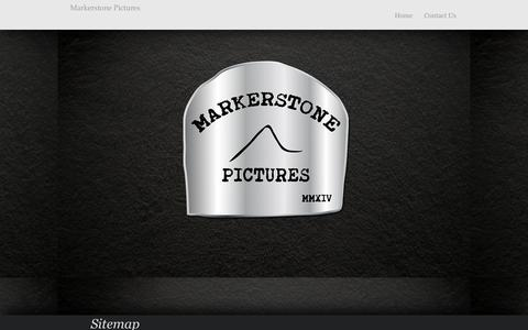 Screenshot of Site Map Page markerstonepictures.com - Markerstone Pictures - Home - captured Aug. 9, 2016