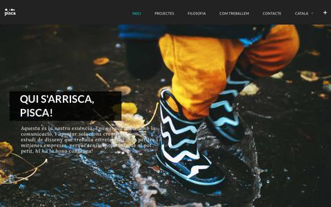 Screenshot of Home Page piscastudio.com - Pisca – Estudi de disseny gràfic i web – Estudi de disseny gràfic i web - captured Nov. 10, 2017