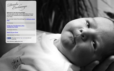 Screenshot of Home Page doulaexchange.com - The Doula Exchange   Connecting Parents With Professional Doulas - captured Oct. 7, 2014