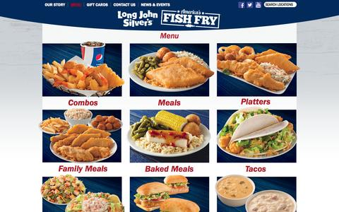 Screenshot of Menu Page ljsilvers.com - Long John Silver's – Long John Silver's – Menu - captured Oct. 30, 2014