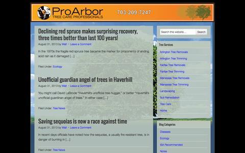 Screenshot of Blog proarbor.com - Pro Arbor Blog - captured Sept. 30, 2014